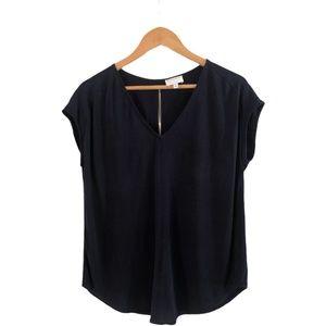 Witchery Navy Blue Size Medium Blouse V Neck Smart
